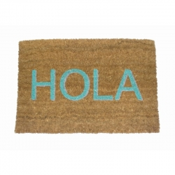 Felpudo Hola Azul Coco, 60x40