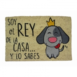 Felpudo Rey De La Casa Perro, 60x40