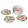 Set 4 posavasos de ceramica framencos con soporte