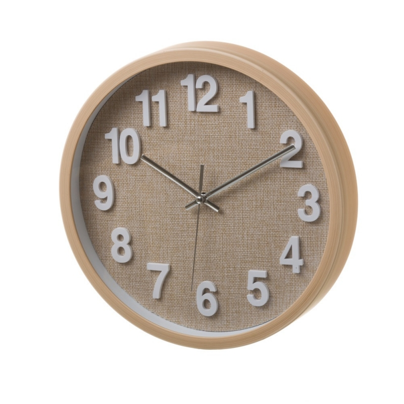 Reloj pared de plástico beige moderno para cocina Bretaña ...
