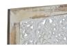 Biombo plegable de madera etnico 128x180 efecto desgastado