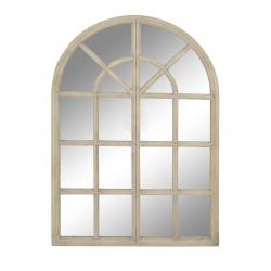 Espejo de ventana paulownia natural marron 65x95 cm