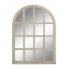 Espejo de ventana paulownia natural marron 66x96 cm
