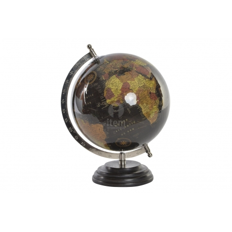 Bola del Mundo,Terraqueo gris 20 cm