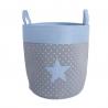 Cesto pongotodo para ropa estrella azul
