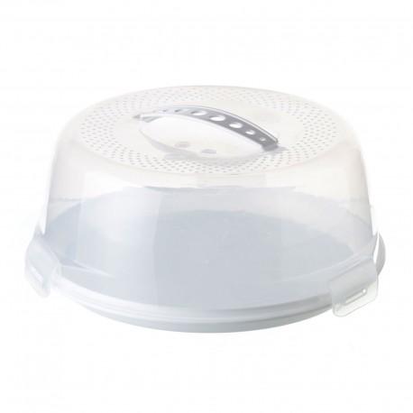 Porta pasteles blanco polipropileno 28x28x12 cm
