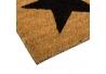 Felpudo estrella negro 75x25 cm