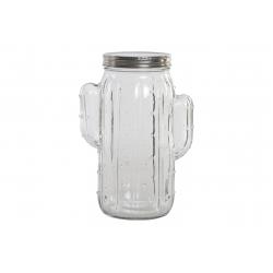 Bote hermetico de cristal cactus capacidad 1.5 L