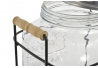 Dispensador de bebidas cristal con soporte metal 8 L