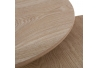 Mesitas auxiliares blancas de madera para salón nordico