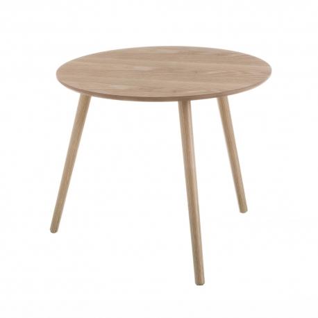 Mesita auxiliar de madera marrón nórdica para salón Basic