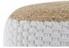 Puff trenzado jute blanco 50x50x25 cm