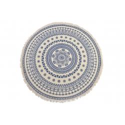 Alfombra multiuso mandala azul de poliester