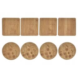 Set 8 posavasos de bambu natural para cocteles