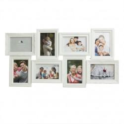 Portafotos plastico multiple blanco 8 Fotos moderno