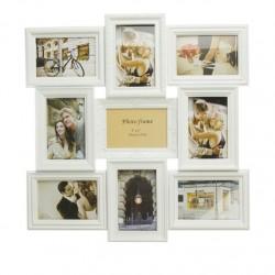 Portafotos plastico multiple blanco 9 Fotos moderno
