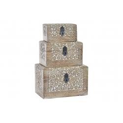 Set 3 caja sheesham arbol de la vida