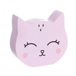 Hucha infantil gato rosa.
