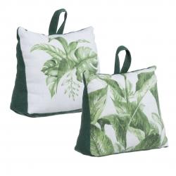 Set 2 sujetapuertas original tropical hojas de tela / arena .