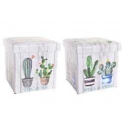 Set 2 puff de cactus surtido