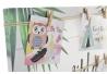 Portafotos lienzo tropical con 9 pinzas