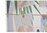 Portafotos lienzo tropical con 15 pinzas