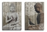 Set 2 cuadro lienzo buda oriental 50x70 cm