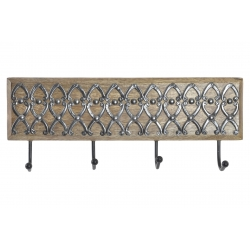 Perchero de pared mango metal 4 colgadores