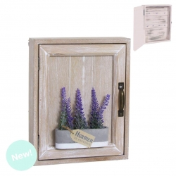 Caja guardallaves de madera lavanda lila