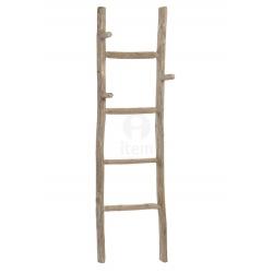 Escalera toallero decorativa de madera natural .