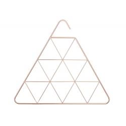 Soporte para bufandas y accesorios triangular y cobreado.