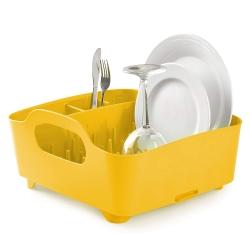Escurridor de platos y vasos, escurreplatos, color amarillo