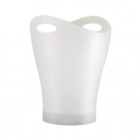 Papelera Garbino 9 l de plástico biodegradable acabado blanco
