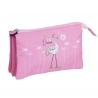 Estuche 3 bolsillos pink dream