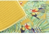 Juego de 2 tapete escurridor microfibra hojas bahamas, 40x48 cm