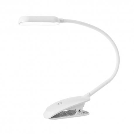 Lámpara con pinza led blanca minimalista para dormitorio Vitta