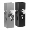 Pack 2 Paraguero metal mapamundo gris y negro
