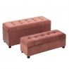 Puffs Baúles pie de cama tapizados de terciopelo rosas clásicos para dormitorio France
