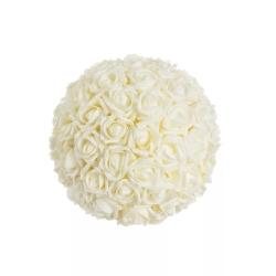 Bola rosas blanco foam para decoracion 22 cm