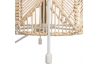 Lámpara de mesa étnica beige de metal para decoración Vitta