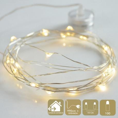Guirnalda de luces led moderna calido de metal para decoración
