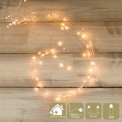 Luces led minimalistas blancas de metal para decoración navideña Christmas