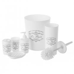 Accesorios de baño blancos de plástico provenzal para cuarto de baño France