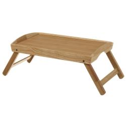 Bandeja cama plegable con patas madera natural para cocina france