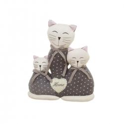 Sujetapuertas de gato gris de tela arena romántico para salón Factory