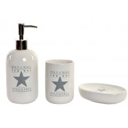 Set baño 3 piezas dolomite estrellas