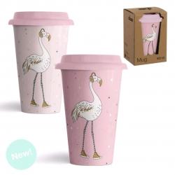 Pack 2 Mug ceramica con tapa de silicona pink dream