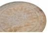 Mesita auxiliar mango mandala natural 46x45x46 cm