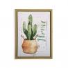 Cuadro planta Cactus verde