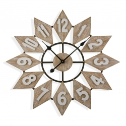 Reloj de pared madera 70 cm
